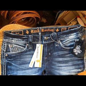 Rock revival boot cut Semak Style Jeans